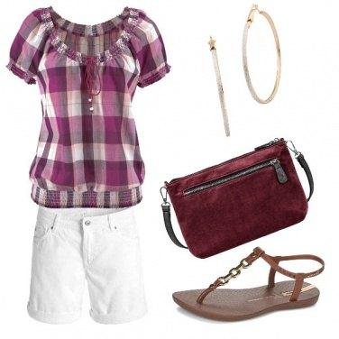 Outfit Scacchi e short