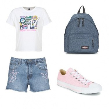 Outfit Short e converse