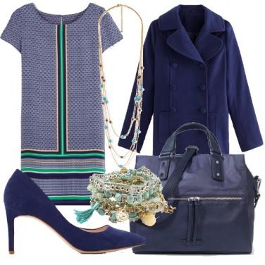 Outfit Ufficio in blu