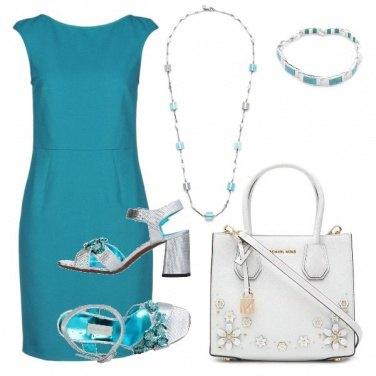 Outfit Il tubino turchese