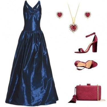 Outfit Blue Bardot
