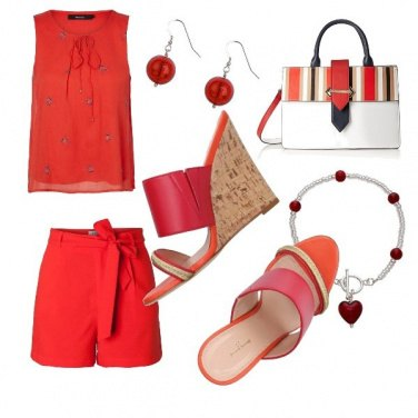 Outfit Rosso in città