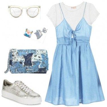 Outfit Pizzo e cotone