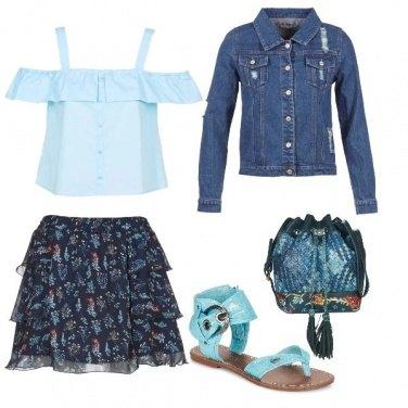 Outfit Azzuro nel cuore