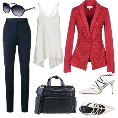 Outfit Bianco, Rosso e Blu