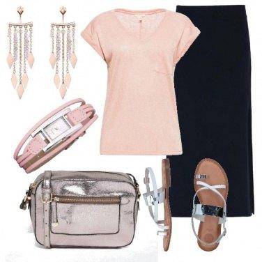 Outfit La longuette con lo spacco laterale