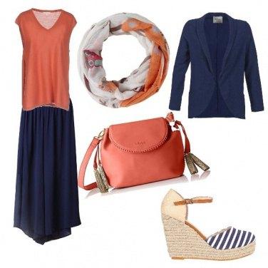 Outfit Orange informel