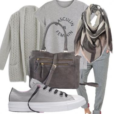 Outfit Bianco o nero? grigio!!
