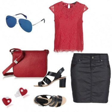 Outfit Basic, la signora in rosso