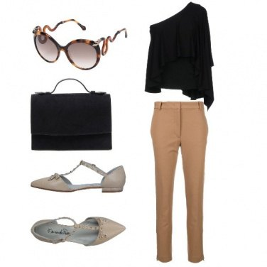 Outfit Top asimmetrico