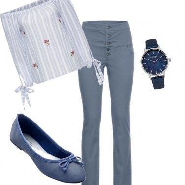 Outfit Toni pastello .