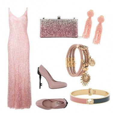 Outfit Gran gala donna in rosa