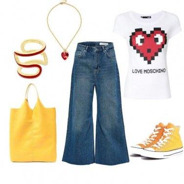 Outfit Giallo come il sole, rosso come il cuore