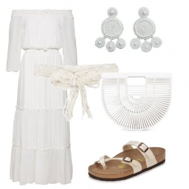 Outfit Total white in vacanza