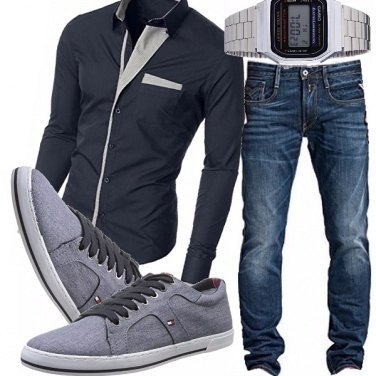 Outfit Classico blu