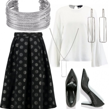 Outfit Pomeriggio - cocktail a pois