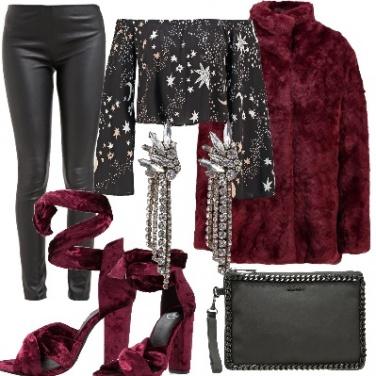 Outfit Borgogna
