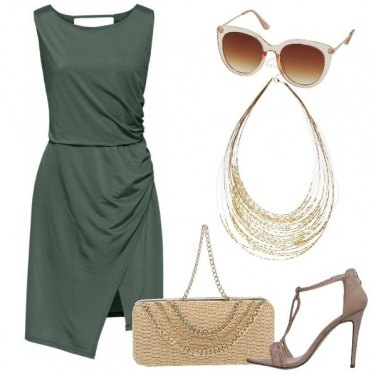 Outfit Verde e oro