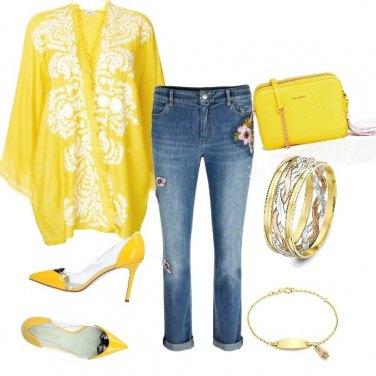 Outfit Kimono lime