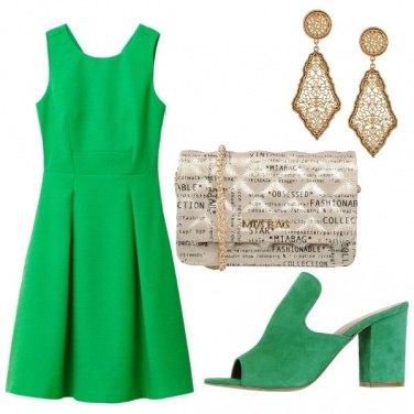 Outfit Vestito verde