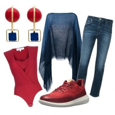 Outfit CMPS Rosso e blu: un classicone