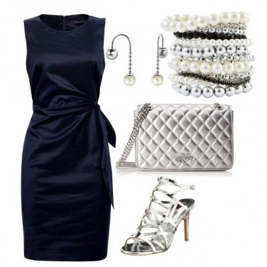 Outfit Blue Silver Night