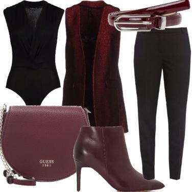 Outfit Smanicato bordeaux