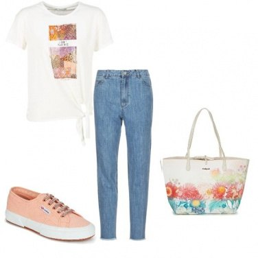 Outfit Intramontabile jeans&sneakers
