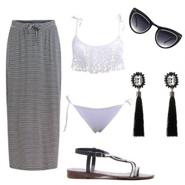 Outfit Black and white low cost