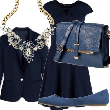 Outfit Autunno in blu