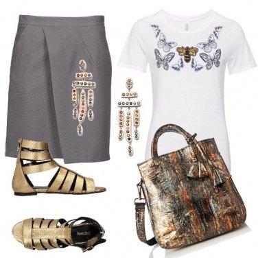 Outfit Oro argento e mirra