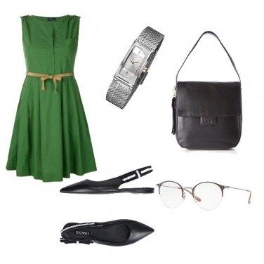 Outfit Basic, borsa e scarpe in tinta