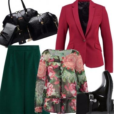 Outfit Autunno ricco di fiori