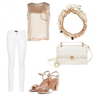 Outfit White & gold