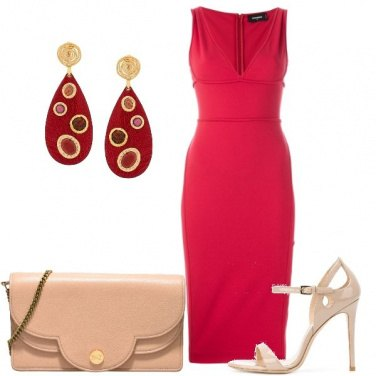 Outfit Tubino rosso