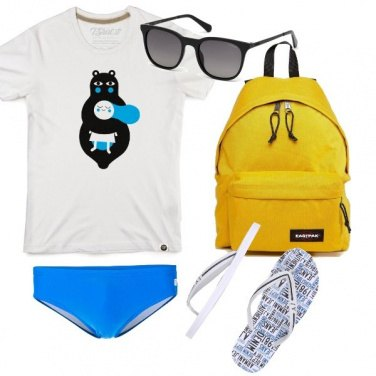 Outfit Blu color mare