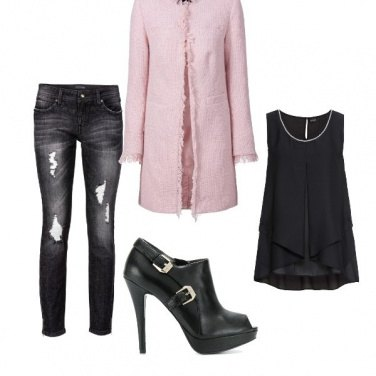 Outfit Un tocco rosa
