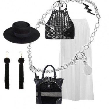 Outfit Colpo di fulmine in bianco è nero