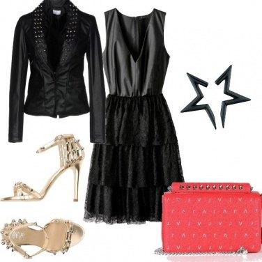 Outfit Serata elegante e rock