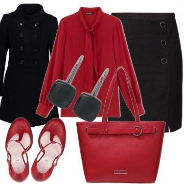 Outfit Rosso e nero 1/2 - ufficio