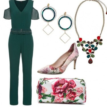 Outfit Jumpsuit e fiori