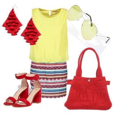 Outfit Rosso e giallo