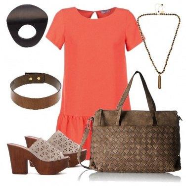 Outfit Abito arancione