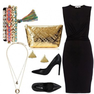 Outfit #Black#Gold