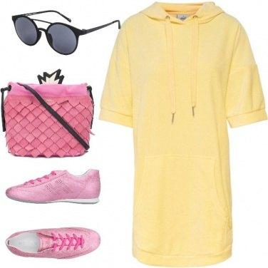 Outfit Giallo colore estate 2018.passeggiata