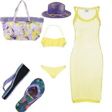 Outfit Giallo colore estate 2018. Mare