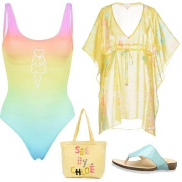 Outfit Arcobaleno in mare