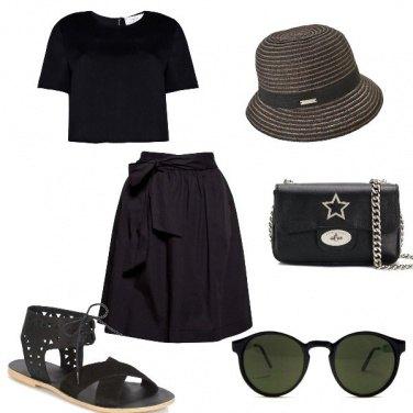 Outfit L\'eleganza del nero anche di pomeriggio