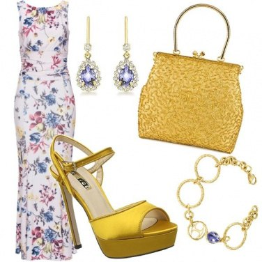 Outfit Flowers and gold