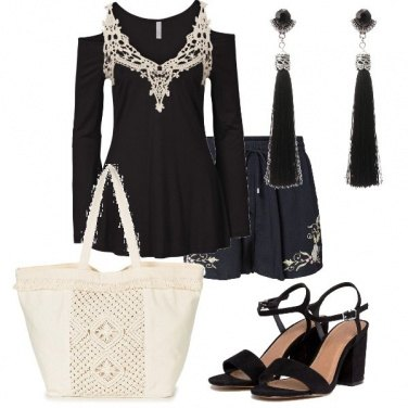 Outfit Ricami chic